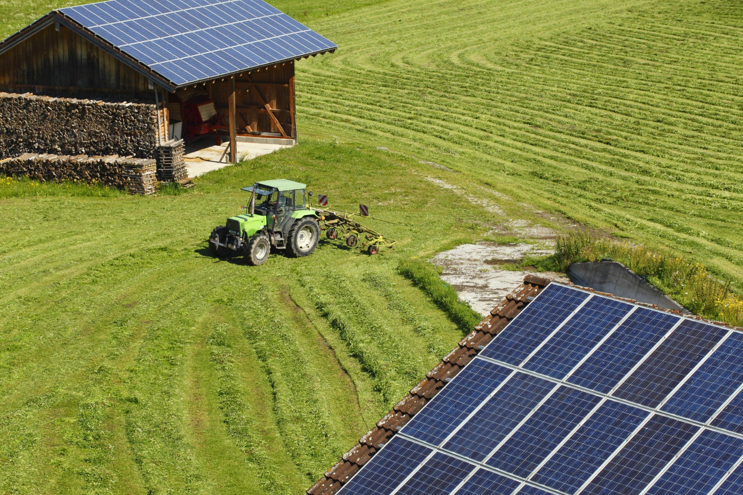 tracteur panneau solaire